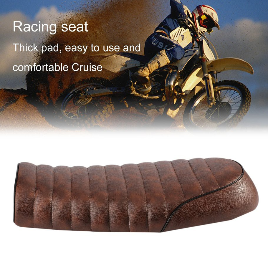 🔶Cafe Racer Seat Waterproof Leather Padded with Sponge
