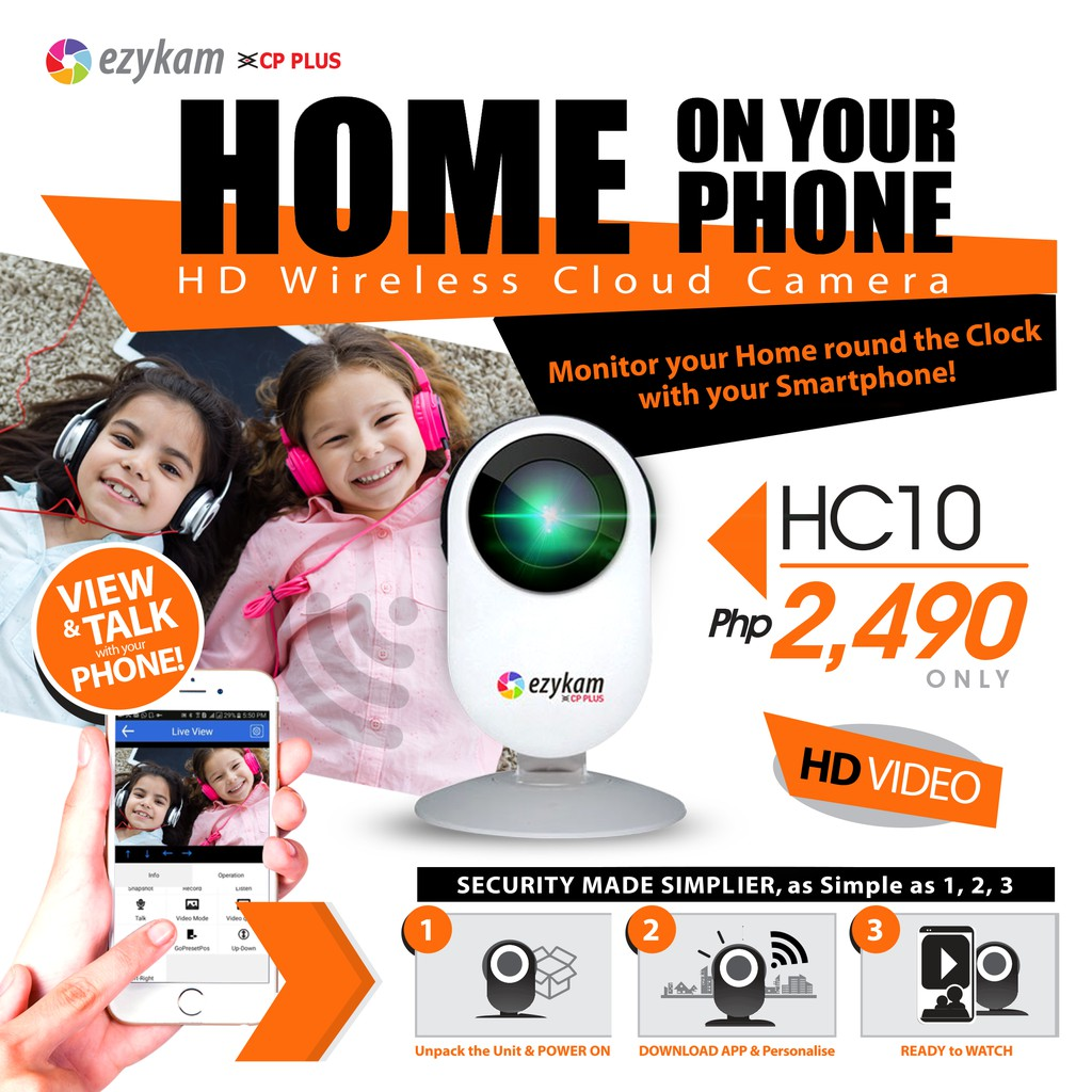 CP Plus Ezykam HC10 HD Wireless Cloud CCTV Camera