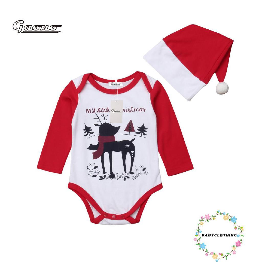 e460ec234008 TO.-Xmas Newborn Baby Boys Girls Romper Jumpsuit