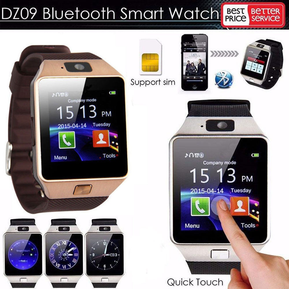 Dz09 Bluetooth Smart Watch Phone Mate Gsm Sim For
