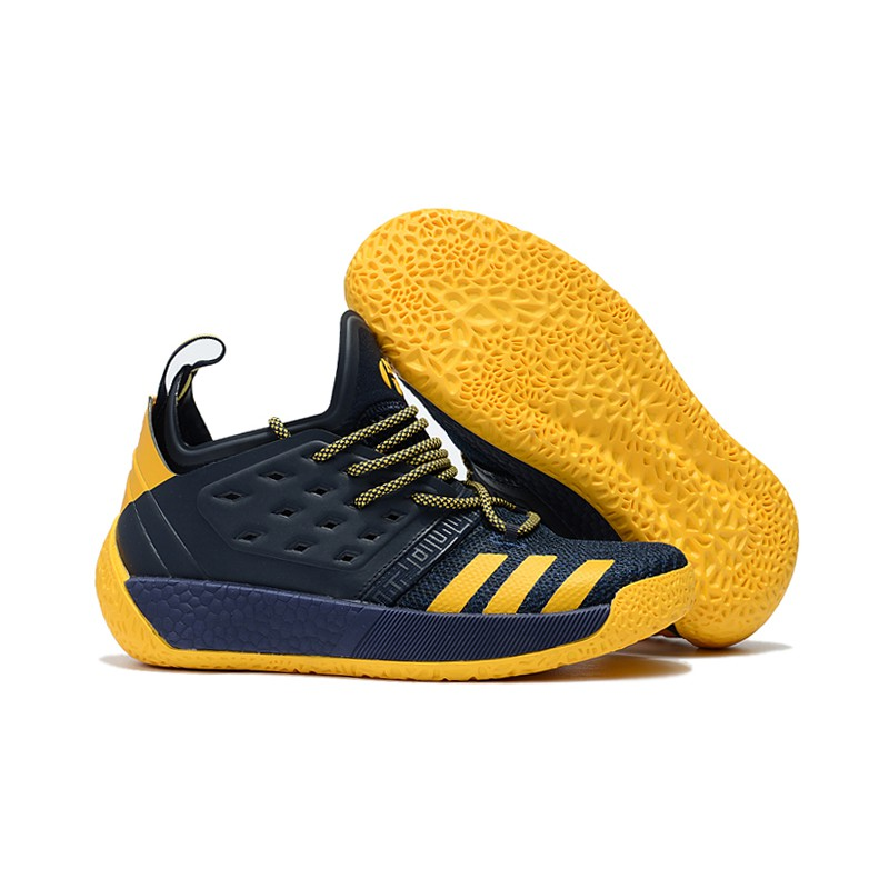 huge selection of d77f9 b4f7a Adidas Harden Vol. 2 Navy Blue and Yellow   Shopee Philippines