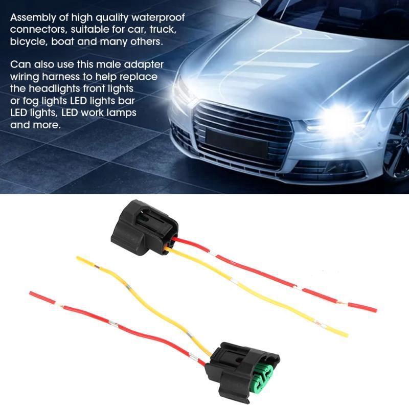 4Pcs Car H7 Male Nylon Socket Case for Halogen headlamp Pigtail Connector Holder