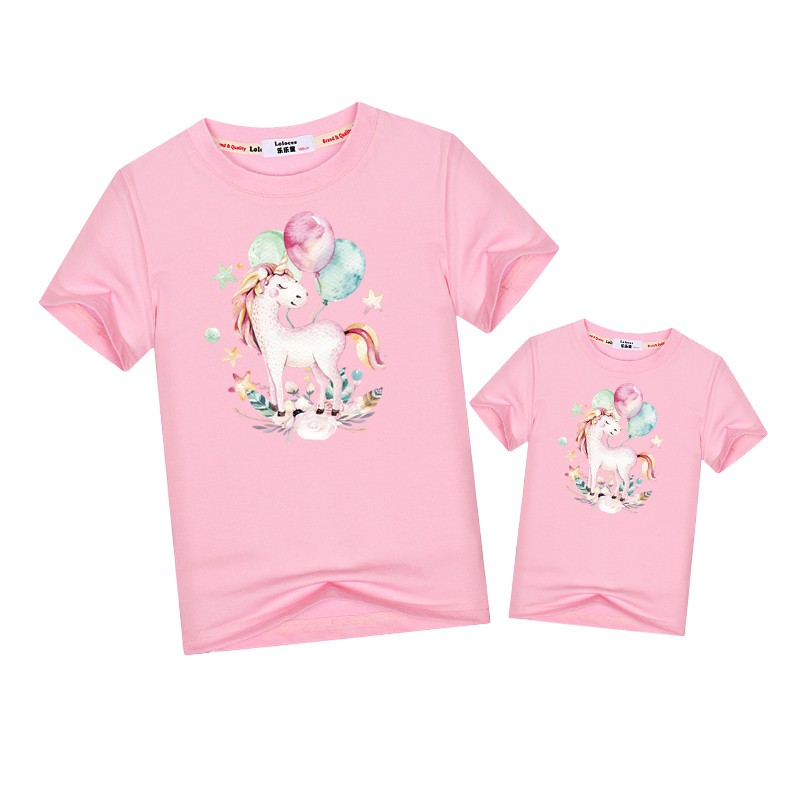 3a89f37da0e6d 2019 Family look suit cute unicorn t-shirt matching outfits