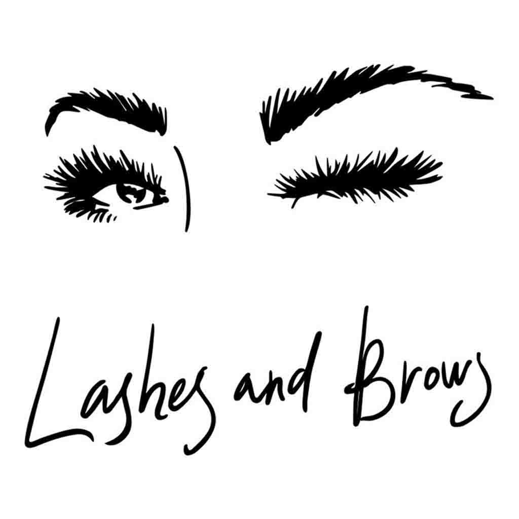 Eyelashes and Eyebrows Wall Decal Lashes and Brows Window Sticker Lashes Extensions Wall Decal Eyes Beauty Salon Wall Art l037