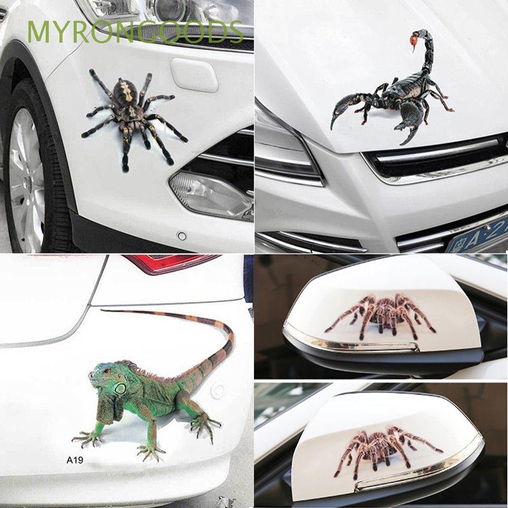 Funny Car Sticker Window Hood Creative Vinyl Decal Sticker 3D Spider Crawling