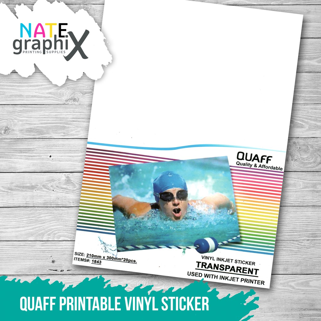 picture relating to Printable Sticker Vinyl titled Quaff Printable Vinyl Sticker
