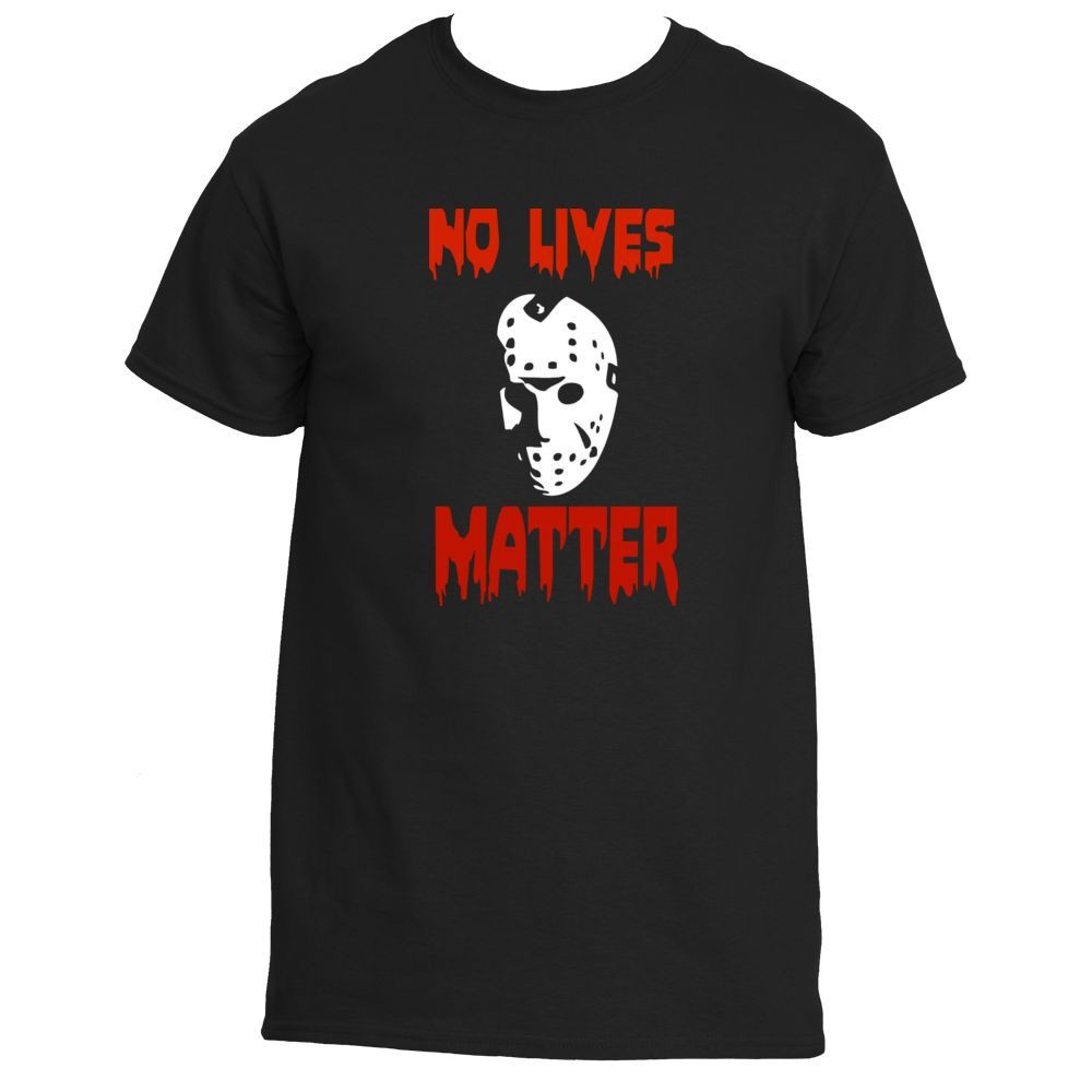 ee3b95aa0d856 Friday The 13Th Jason Voorhees No Lives Matter Men's T-Shirt