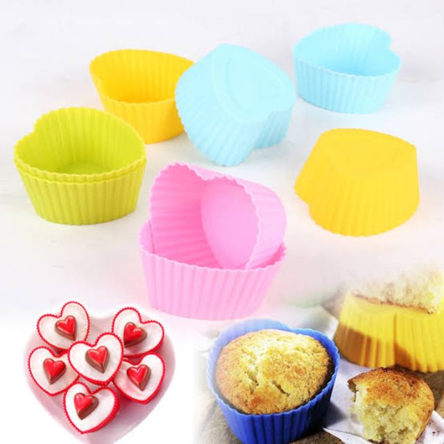 EG/_ 10X NEW USEFUL SILICONE ROSE MUFFIN CUP CAKE BAKING CHOCOLATE JELLY MAKER MO