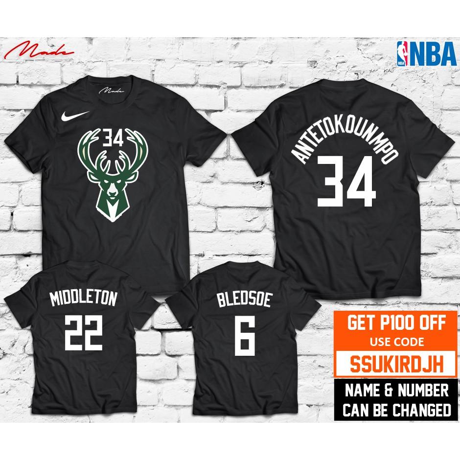 new styles fe5b2 97c14 NBA - Milwaukee Bucks Giannis Antetokounmpo Chris Middleton Eric Bledsoe  Jersey Shirt