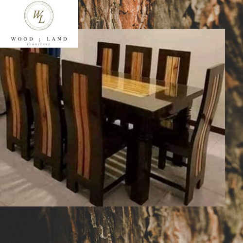 8 Seaters Solid Mahogany Wood Dining Table Set Shopee Philippines