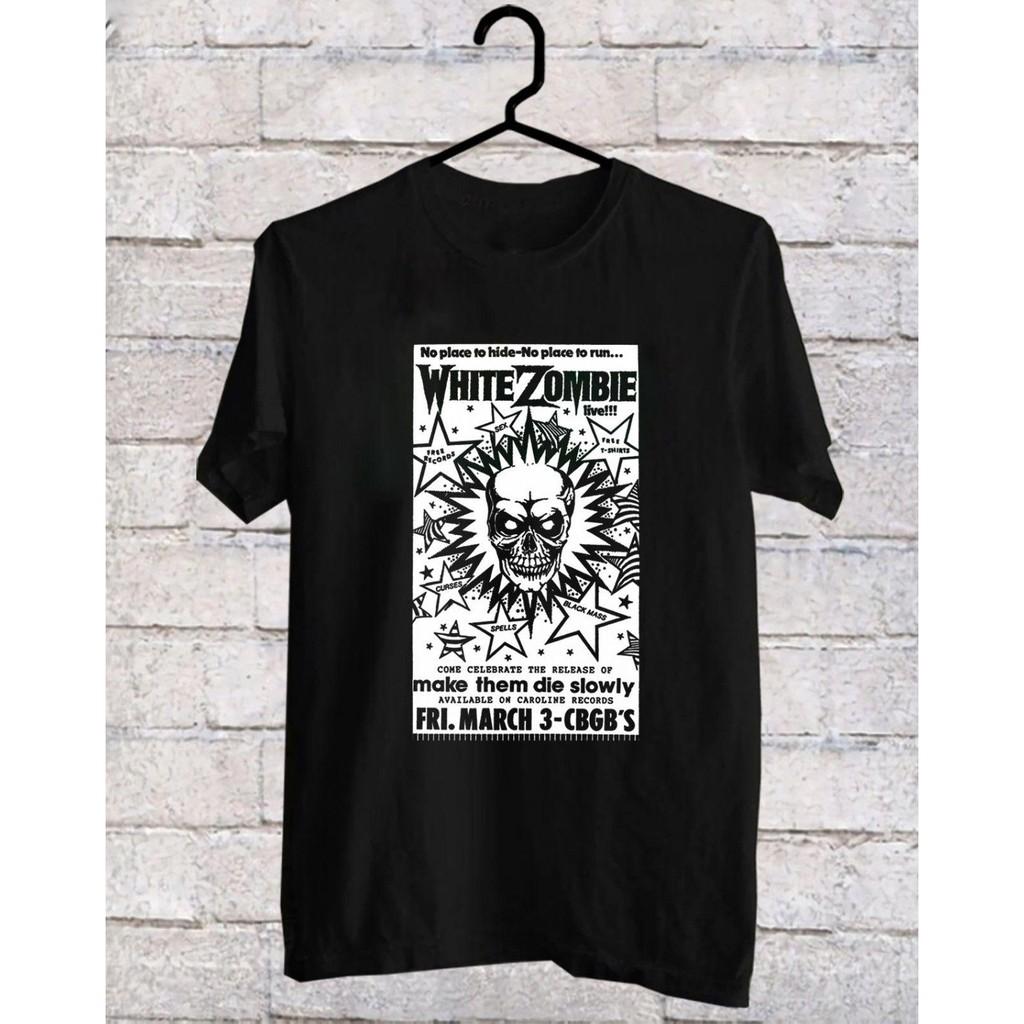 2XL Black Band T-Shirt L White Zombie CBGB Poster S M XL