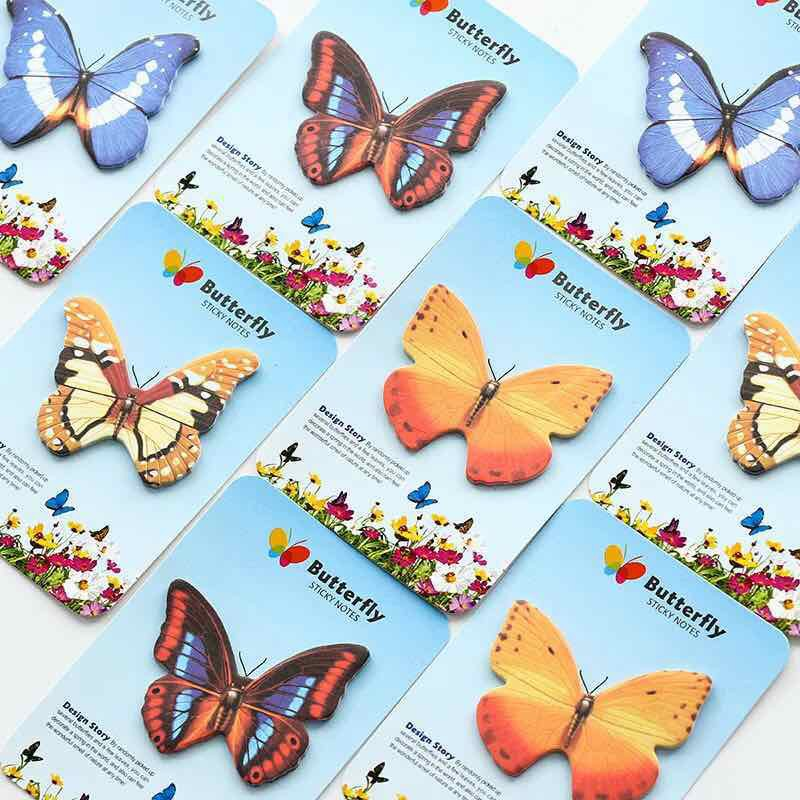 Butterfly Post-It Notes Index Sticky Memo Pad Bookmark