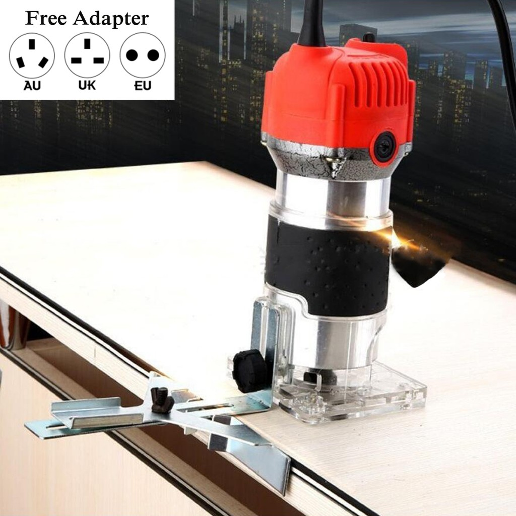 1300W Electric Hand Trimmer Palm Router Laminate Trimmer Wood Working Joiners UK