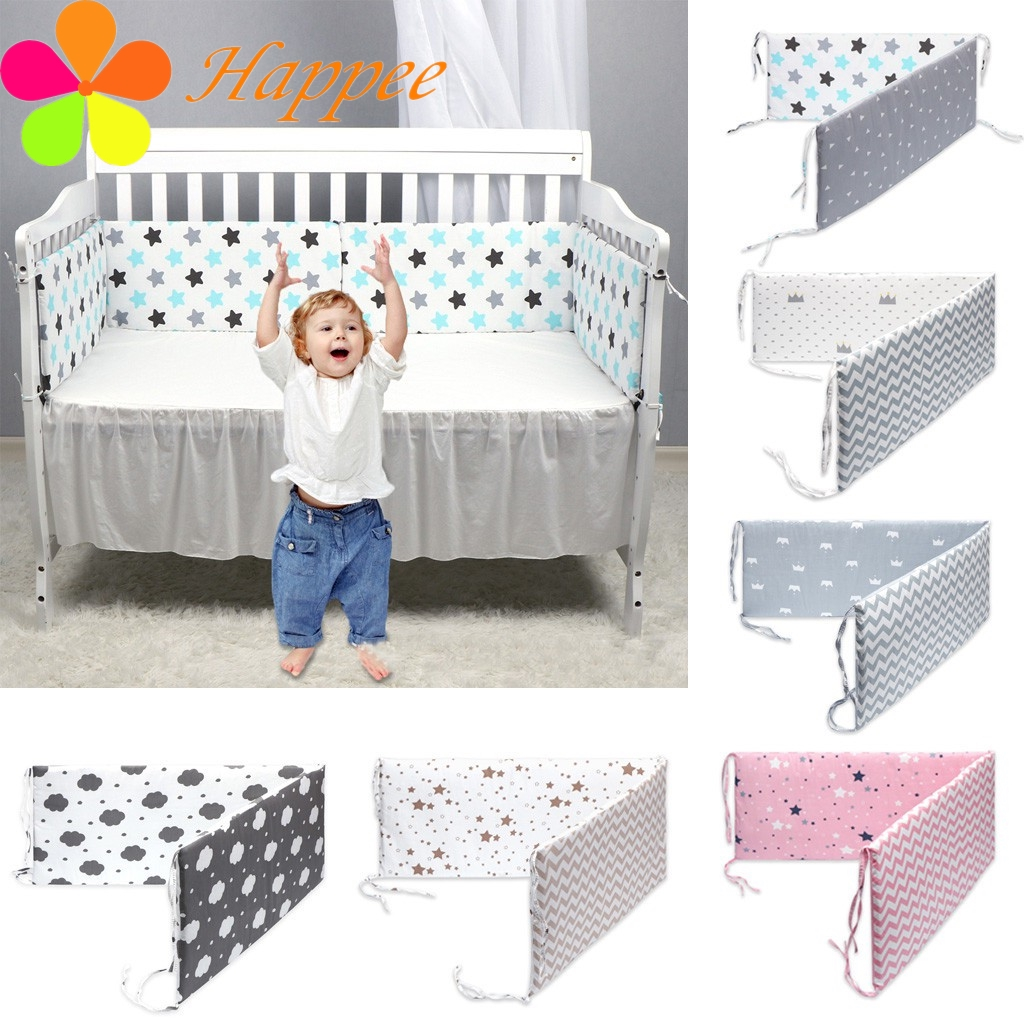 White-Pink-Blue, 400CM Baby Braided Crib Bumpers Long Knot Pillow Cushion,Nursery Bedding Cot Safety Fence Stroller Bumpers Room Decor