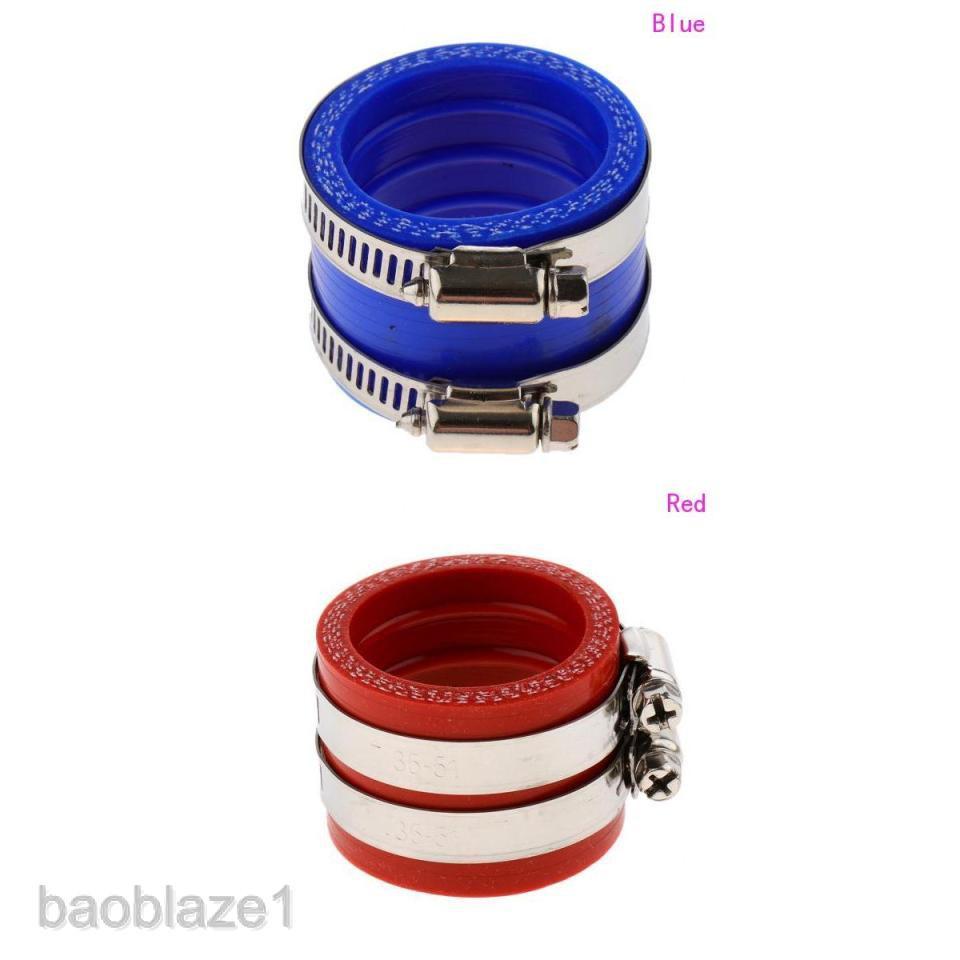 Pro Braking PBK9517-RED-BLU Front//Rear Braided Brake Line Red Hose /& Stainless Blue Banjos