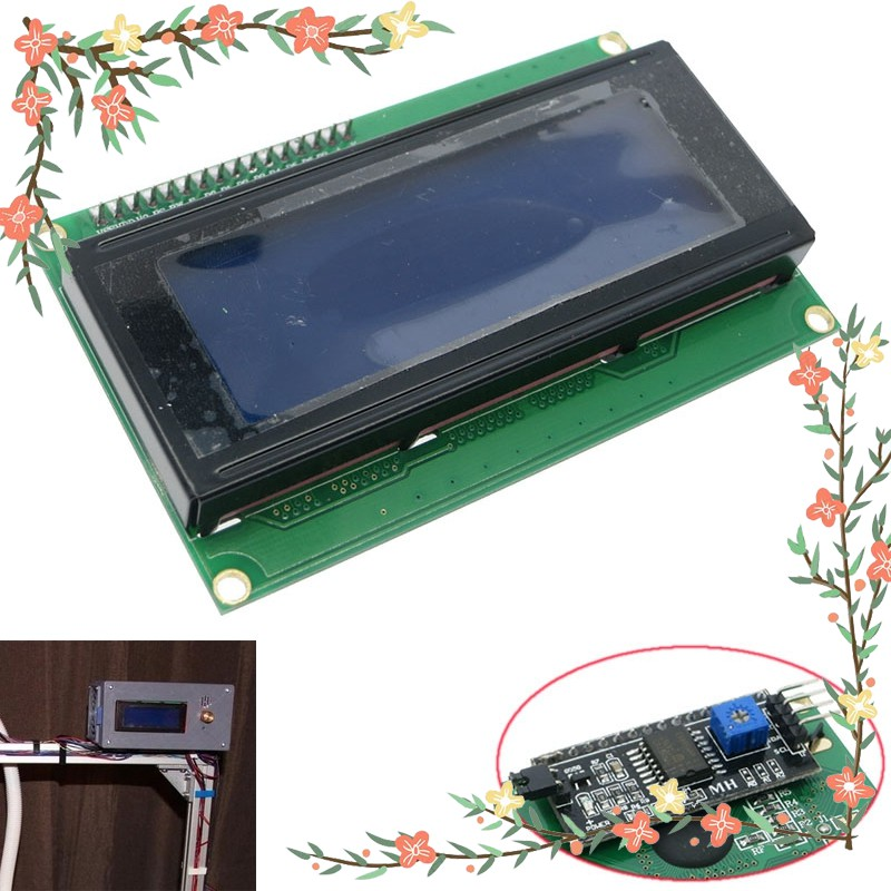 ★Blue Serial IIC I2C TWI 2004 20x4 Character 5v LCD Module Display for  Arduino