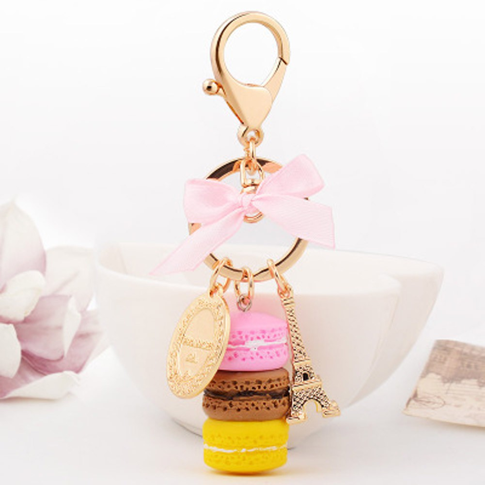 e383afd68996 Fancyqube Keychain Bag Charms France LADUREE Macarons Effiel Tower ...