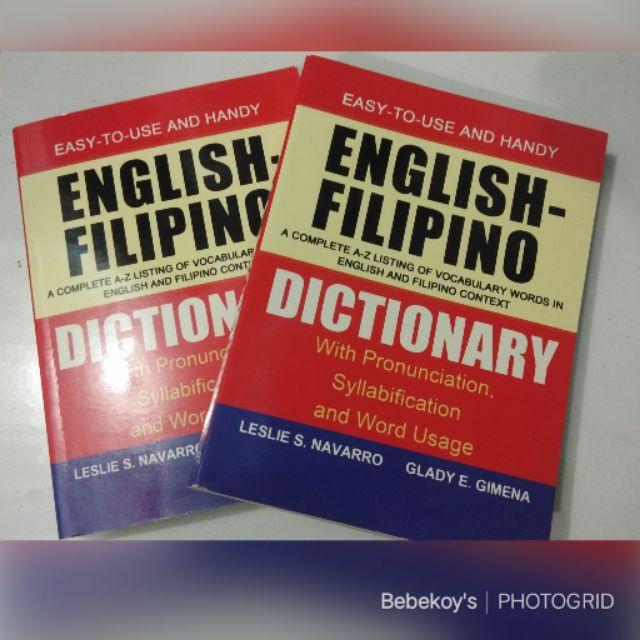 English-filipino dictionary