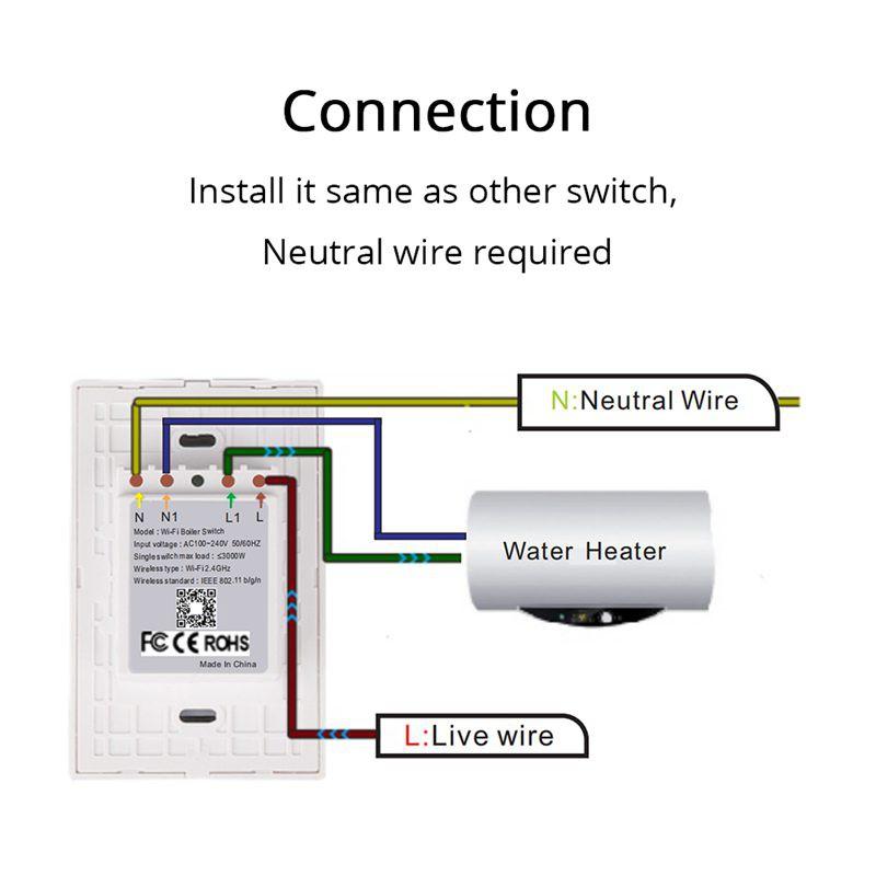 Smart Wifi Water Heater Switch Boiler Switches Alexa Goog P1 Shopee Philippines