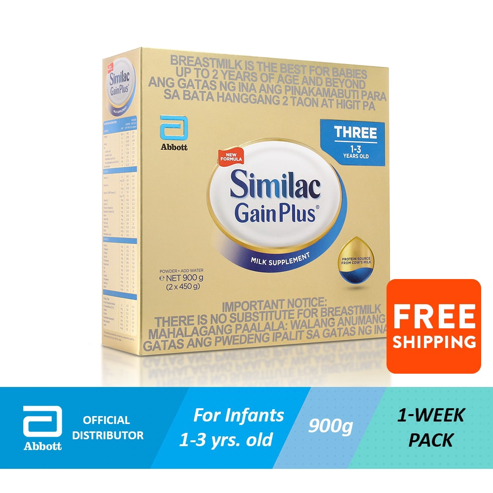Abbott Similac Gainplus 900g For Kids 1 to 3 years Old