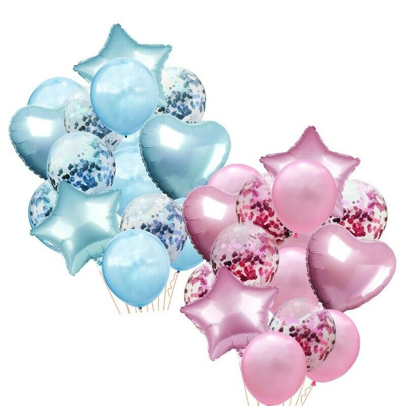 14pcs//set Wedding Birthday Balloons Latex Foil Ballons Kids Boy Girl Baby Part