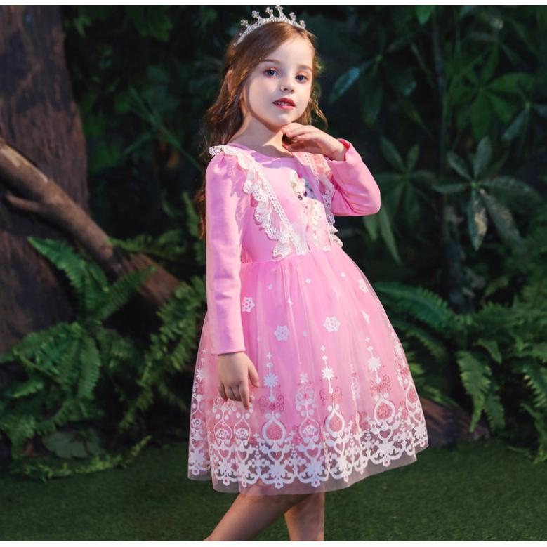 Kids Frozen Elsa Dress Princess Dresses Girl 's Party Costume Kids