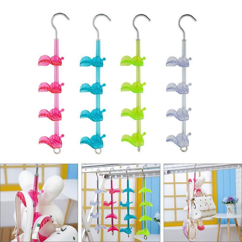 e0fb680c0d01 Handbag Bag Holder Shelf Hanger 4-Hooks Hanging Storage Rear Door Rack