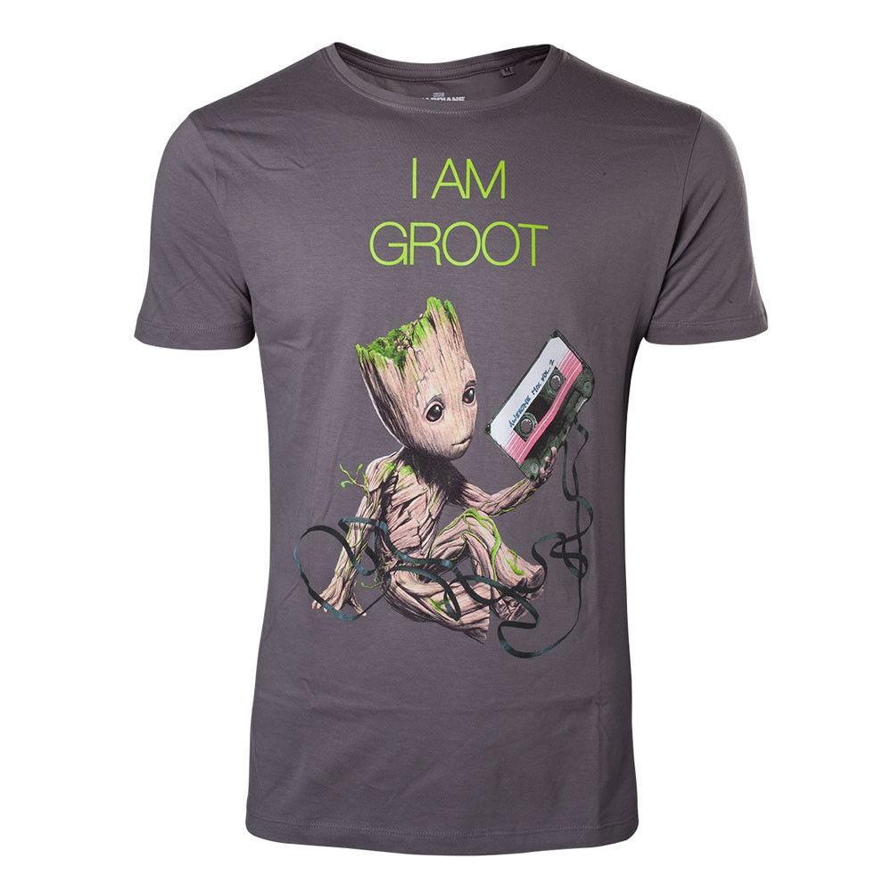2505f6d2e Men T Shirt Graphic I M I Am Groot Mens T-Shirt Guardians Of The Galaxy  Grey