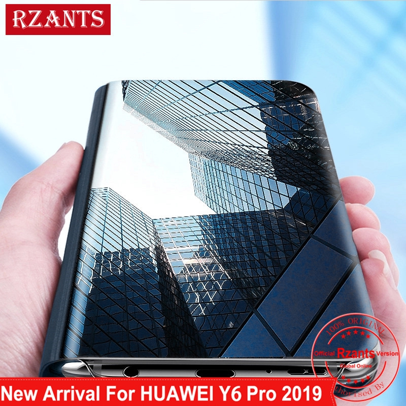Huawei Y6 Pro 2019 Case Removable Stand View Mirror Cover