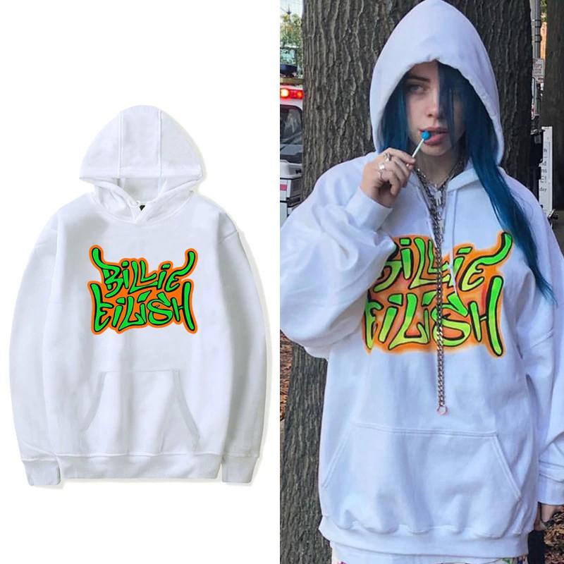 Billie Eilish Fashion Streetwear Hoodies Sweatshirt Casual Men Hooded Pullover Long Sleeve Sport Hi Shopee Philippines