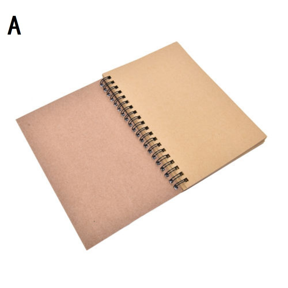 Supplies Kraft Paper Sketch Coil Sketchbook Art Paper Crafts Notebook