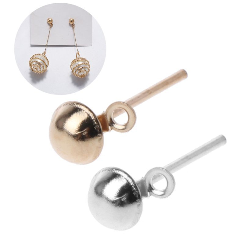 50Pcs Ear Studs Backs Clutch Plastic Pad For Earrings DIY Craft Kit Jewelry