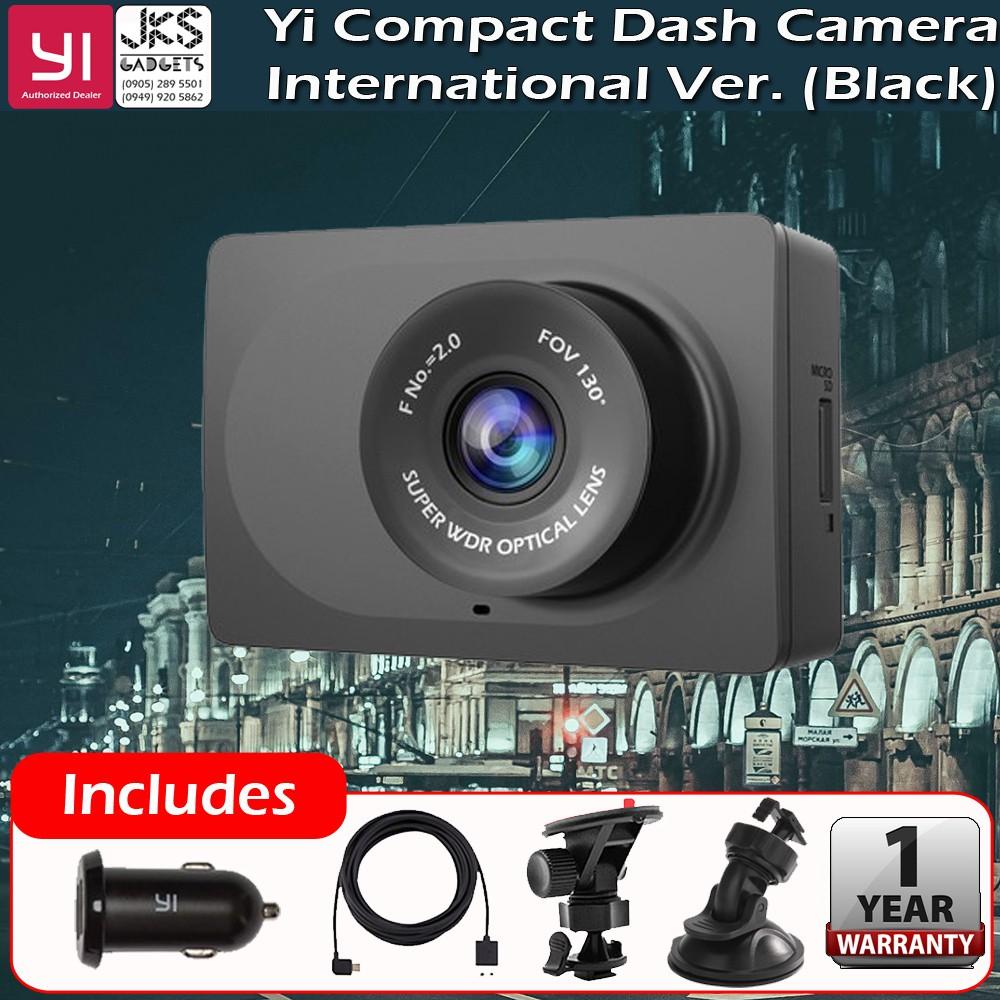 Yi Dash Cam Compact YI Dashcam INTERNATIONAL Version with FREE Suction