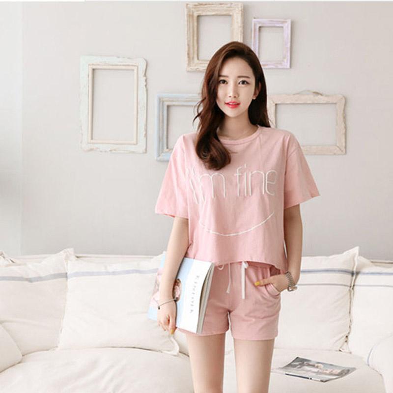 c2f7ded4e4 ProductImage. ProductImage. Women's Cute Pattern Short Sleeve Sleepwear  Pajama Set