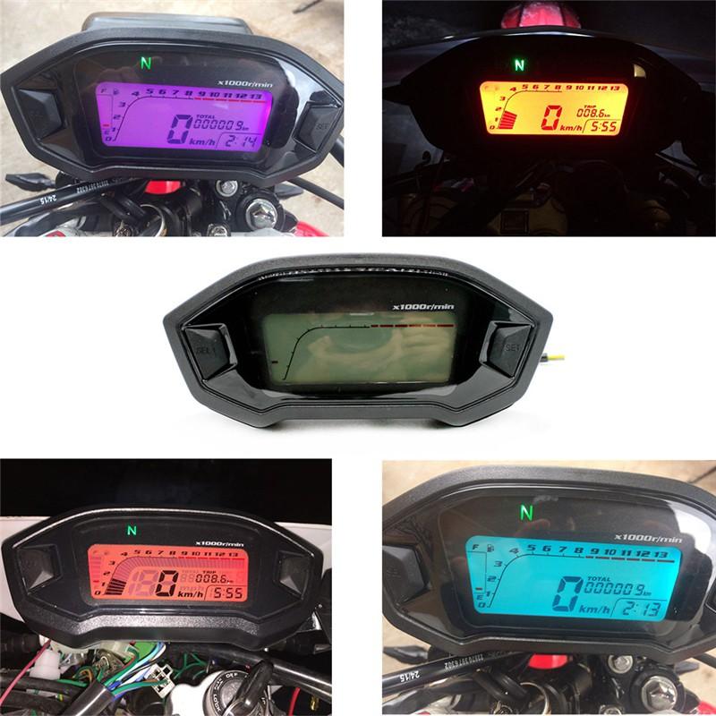 Hw Lcd Digital Backlight Motorcycle Odometer Speedometer