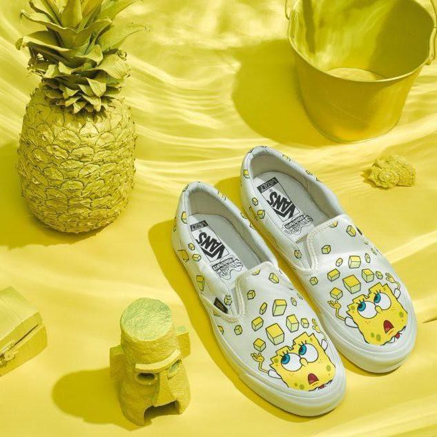 ee08e6a1b5 Vans VAULT X SpongeBob Classic OG Casual Shoes Yellow