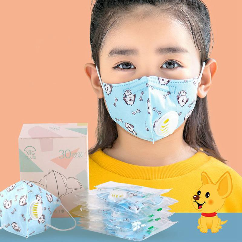 Anti-fog Activated Filters Kids Respirator Mask Pm2 Replaceable Dust Mouth Carbon Anti With 5 Face