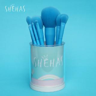 shehas she has aqua blue makeup brush 8 sets beginner eye