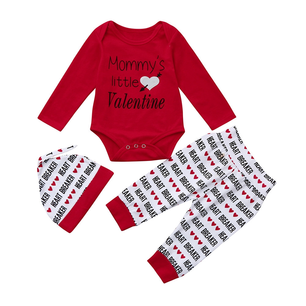 NWT /'Mama/'s Boy/' Bodysuit Pants /& Hat Baby Valentine/'s Day Outfit