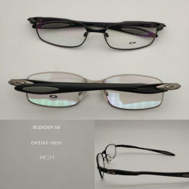 e50fb1f80d7 Oakley Blender 6b Silver Half-Rim 52-18 Eyeglasses RX Frames ...