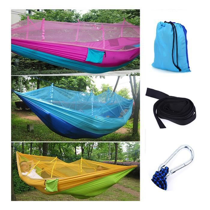 Outdoor Camping Swing Hammock Sleeping Bag With Mosquito