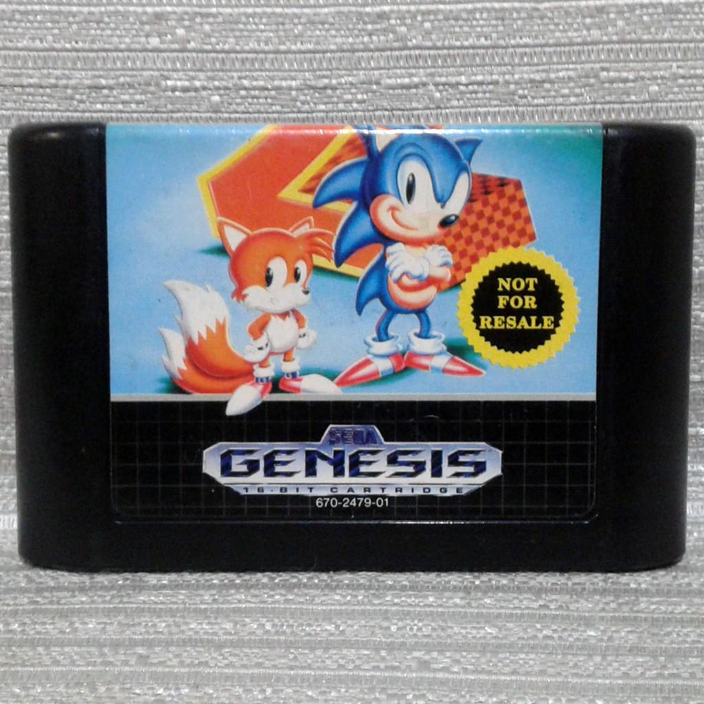 Sonic The Hedgehog 2 Sega Genesis Mega Drive Video Game Us Can Shopee Philippines