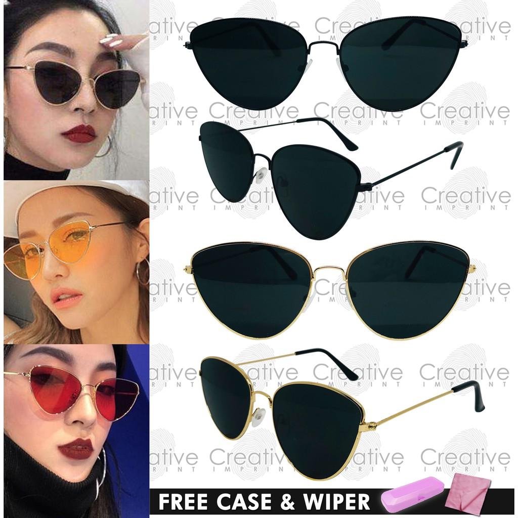 2d142f4403c Vintage Small Cat Eye Retro Sunglasses Shades FREE CASE