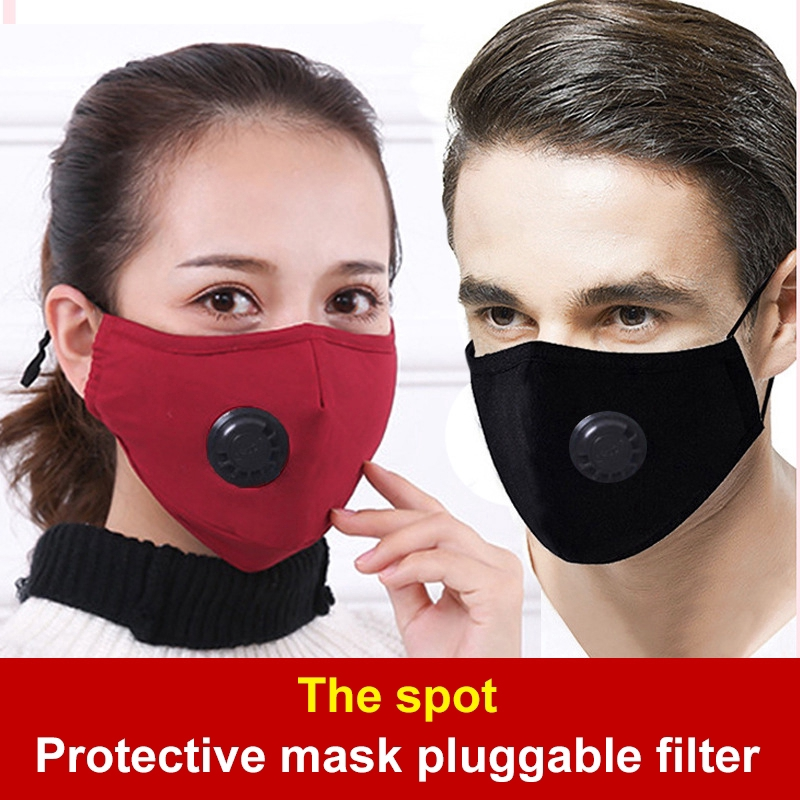 1Pcs Unisex Cotton Breath Valve Mouth Mask Anti-dust Anti Pollution Mask Filter