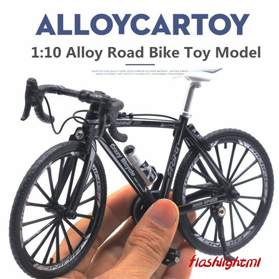 1//10 Simulated Alloy Racing Bike Model Bicycle Showcase Decor Red White B