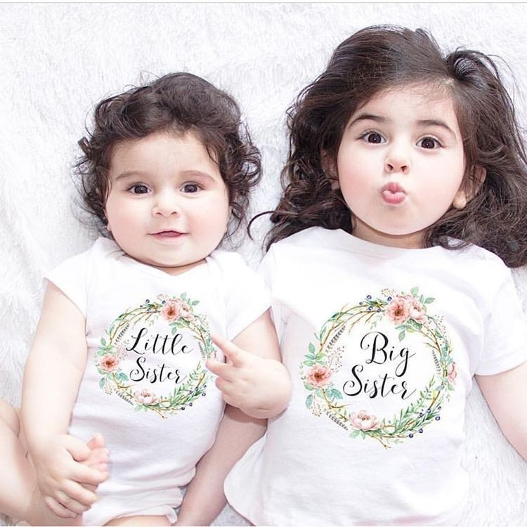 6e955ea2dfd0 Little Big Sister Match Clothes Jumpsuit Romper T Shirts   Shopee  Philippines