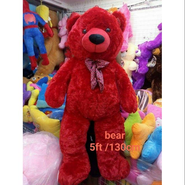 Red Teddy Bear 5 Feet, 5ft Furry Red Teddy Bear Free Shipping Shopee Philippines