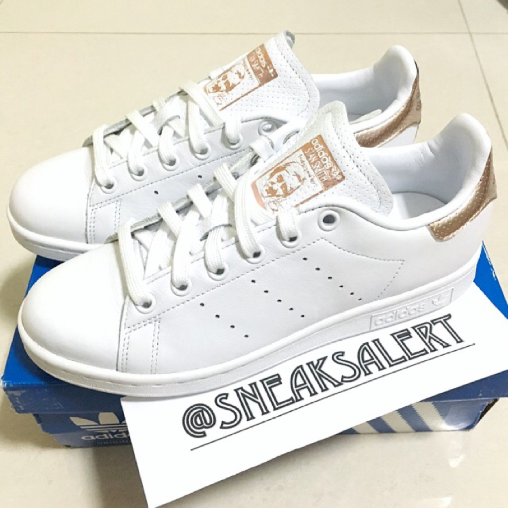 flauta Nombrar galería  RARE Authentic Adidas Stan Smith Rose Gold Heel | Shopee Philippines