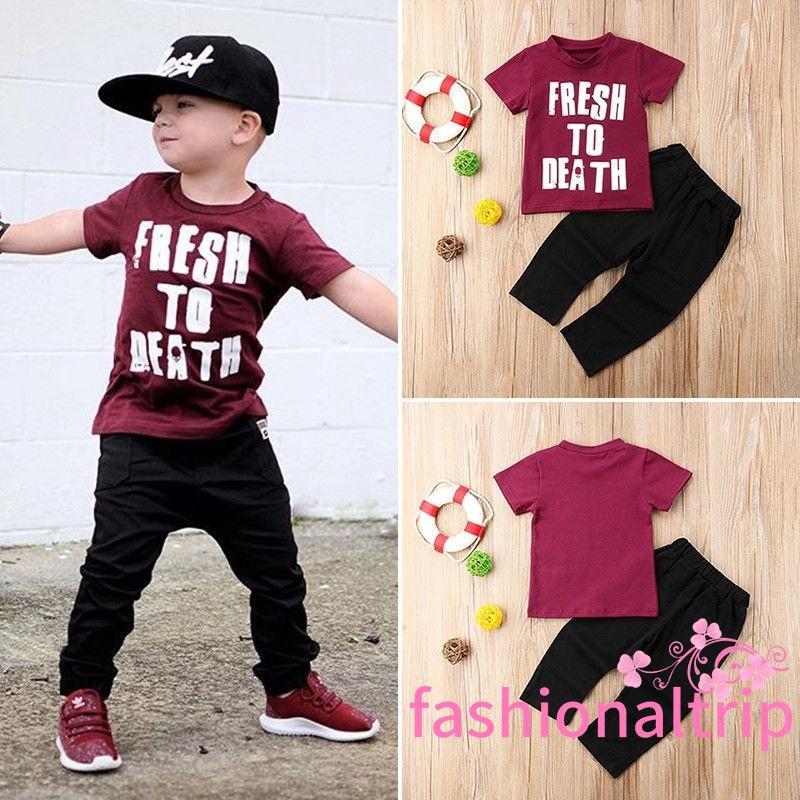 f9ddde53c SLP-Fashion Toddler Kids Baby Boys Tops T-shirt Pants