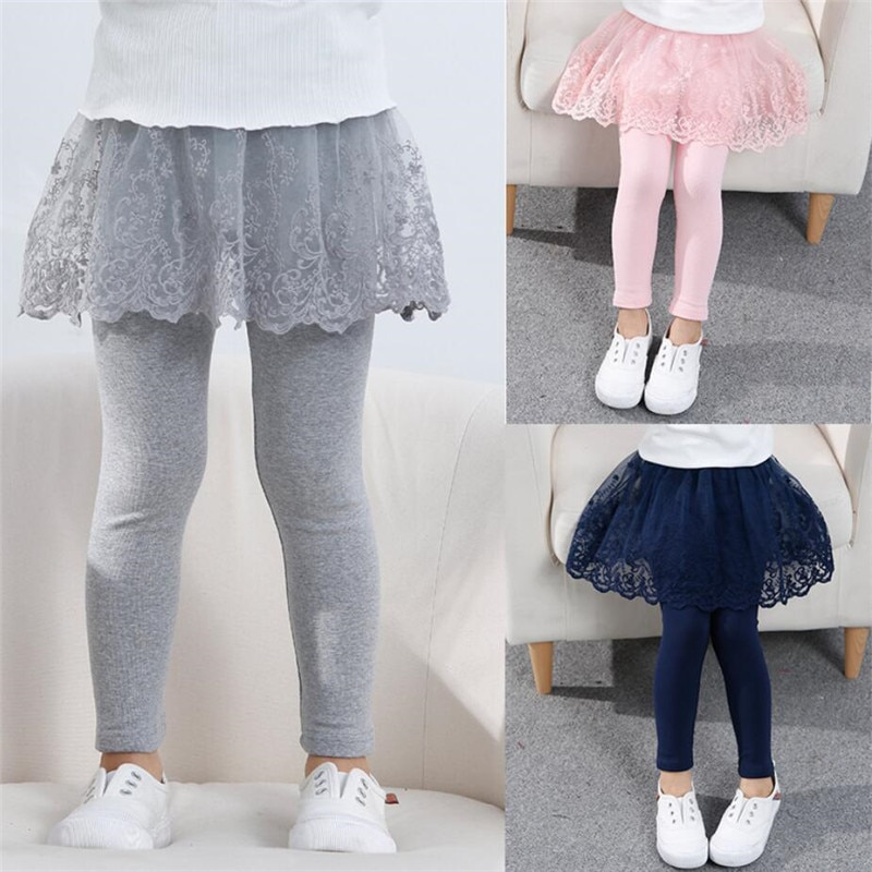 Cotton Baby Girls Leggings Lace Princess Skirt-pants Spring Autumn Children  Slim Skirt Trousers for 2-7 Years Kids Clothes | Shopee Philippines